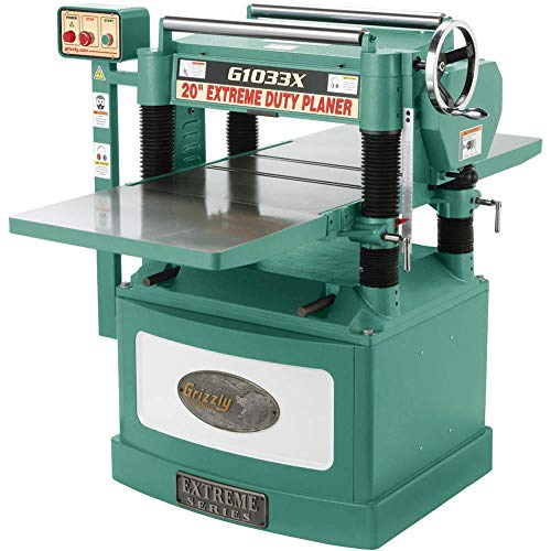 Grizzly G1033X 5 HP Spiral Cutter Head Planer, 20-Inch