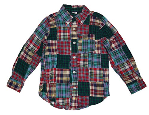 Gap Baby Boys Patchwork Plaid Long Sleeve Shirt ( 5 ) - Baby Gap Patchwork