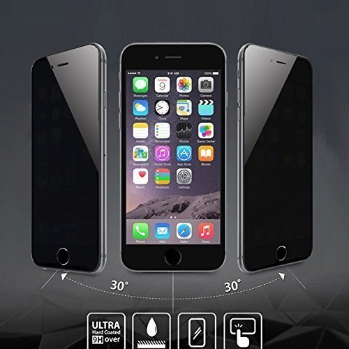 [iPhone 6 Plus/6s Plus Full Cover Tempered Glass] iPhone 6 Plus Screen Protector, AMOVO Premium HD 0.26mm Anti-Fingerprint Glass Protector for iPhone 6s Plus (iPhone 6 Plus/6s Plus (5.5) Privacy)