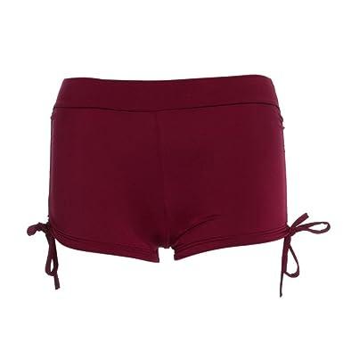 2ca13dfc66 Amanod 2018 hot sale Womens Shorts Plain Bikini Swim Pants Swimwear Style  Briefs Bottoms Beachwear at Amazon Women's Clothing store:
