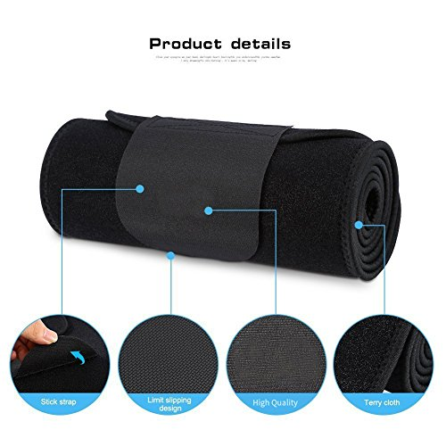 83873ca859 Yosoo Waist Trimmer Belt - Neoprene Waist Sweat Band for Slimmer Water  Weight Loss Mobile Sauna