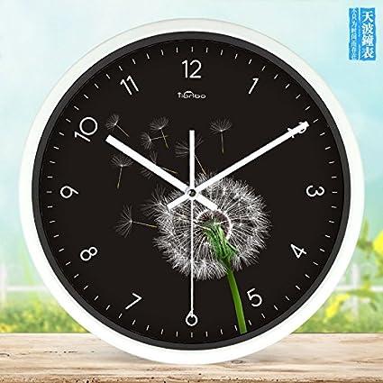 lqxzm-stylish sala de estar reloj de pared reloj moderno creativo relojes ultrasilencioso campo arte