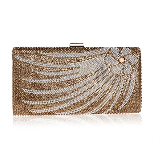 Evening Banquet Clutch WenL Diamond Ladies Bag Diamond Gold WenL 6qWtv7