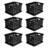 Tools & Hardware : Sterilite 16939006 File Crate, Black, 6-Pack