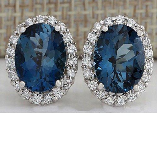 Chic Jewelry 925 Silver Aquamarine Gemstone Dangle Drop Earrings Wedding Jewelry by suchadaluckyshop