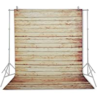 Emart 5x7 ft Photo Video Photography Studio Polyester Backdrop Background Screen (Rustic Wood Floor)