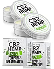 CB2 NATURAL PAIN RELIEF CREAM (2 pack) for Muscle Pain, Joint Pain, Inflammation, Arthritis, Nerve Pain, Injuries. Extra Strength Pain Relief for Back Pain, Knee Pain, Sore Muscles, Stiff Joints, Fibromyalgia, and Tendonitis. (2 pack / 15mL Tin x2)