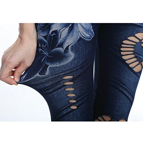 jean femme taille grande slim fonc Gnrique XL bleu jean taille S MagiDeal haute wIxn8Cq5