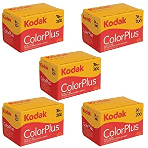5 Rolls Of Kodak colorplus 200 asa 36 exposure (Pack of 5) by Kodak