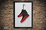 Air Jordan 12 'Flu Game', 'Taxi', 'White', 'Playoffs' Illustration, Vintage Hanging Kicks - Sneaker Wall Art - 11' x 14', 12' x 18', 13' x 19', 18' x 24', 24' x 36'