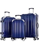 Olympia Stanton 3 Piece Polycarbonate Hardcase Spinner Set with TSA Lock BU