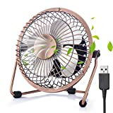 USB Fan Cooler Mini Table Desk Personal Fan, ShineMore Portable Metal Cooling Fan, Outdoor Fan Table Fan Summer Cooler Fan with USB Cable for Office, Home, School, Camping