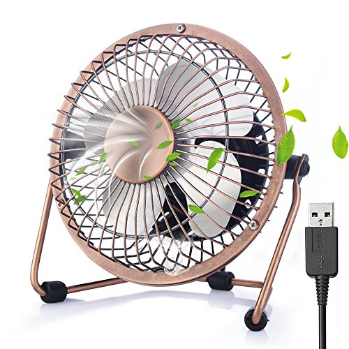 USB Fan Cooler Mini Table Desk Personal Fan, ShineMore Portable Metal Cooling Fan, Outdoor Fan Table Fan Summer Cooler Fan with USB Cable for Office, Home, School, Camping by ShineMore