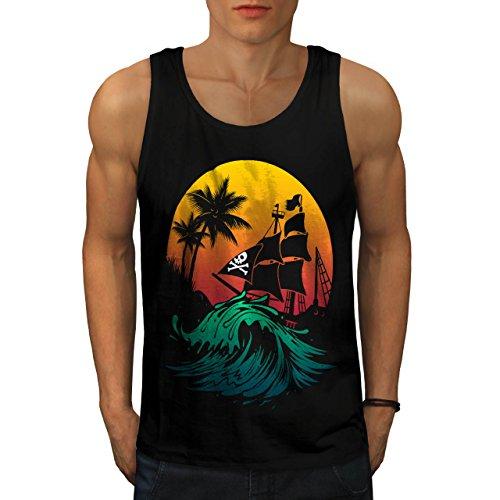 Pirate Ship Storm Sun Ocean Men NEW L Tank Top | Wellcoda ()