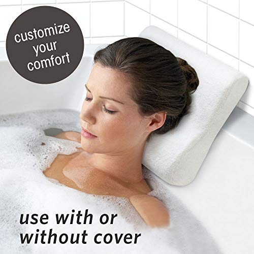Mind Neck Pillow - Microdry In Tub Dual Function Bath Pillow, Luxury Cushion, Supports Your Head, Neck, and Shoulders