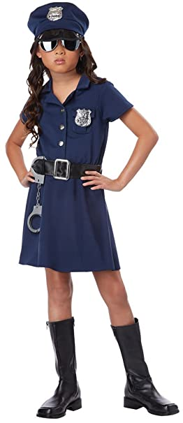 Girls Halloween Costume- Police Officer Kids Costume Large 10-12  sc 1 st  Amazon.com & Amazon.com: Girls Halloween Costume- Police Officer Kids Costume ...