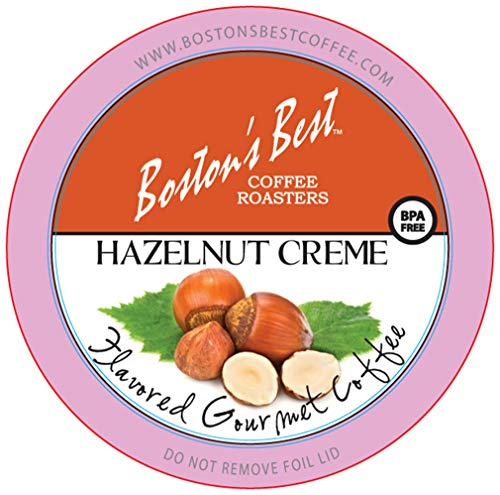 Boston's Best Coffee Roasters, Hazelnut Creme, Single Serve Cup 12 Count (Pack of 6) (Compatible with 2.0 Keurig Brewers)