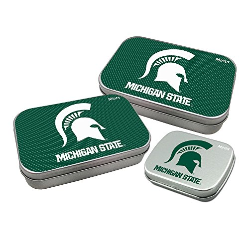 Worthy Promotional NCAA Michigan State Spartans Decorative Mint Tin 3-Pack with Sugar-Free Mini Peppermint Candies
