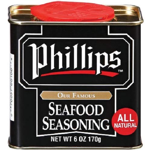 Phillips Seafood Seasoning 6 oz. can - Maryland's World Famous Crab Cake Seasoning (Best Bloody Mary Recipe Old Bay)