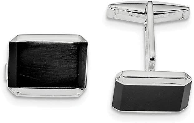 Amazon.com: 925 Sterling Silver Rectangle Black Onyx Cuff Links Mens  Cufflinks Man Link Fine Jewelry For Dad Mens Gifts For Him: Jewelry