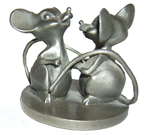Hudson Pewter Dancing Mice Figurine - Two Friends