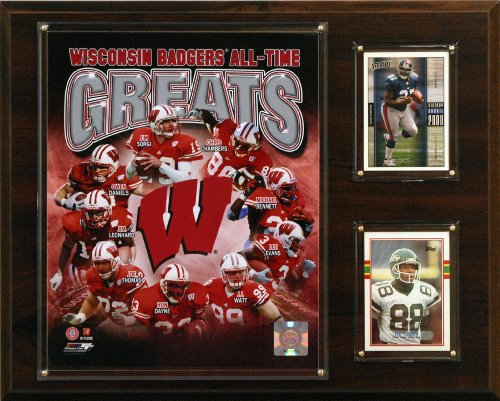 (C&I Collectables NCAA Football Wisconsin Badgers All-Time Greats Photo Plaque)