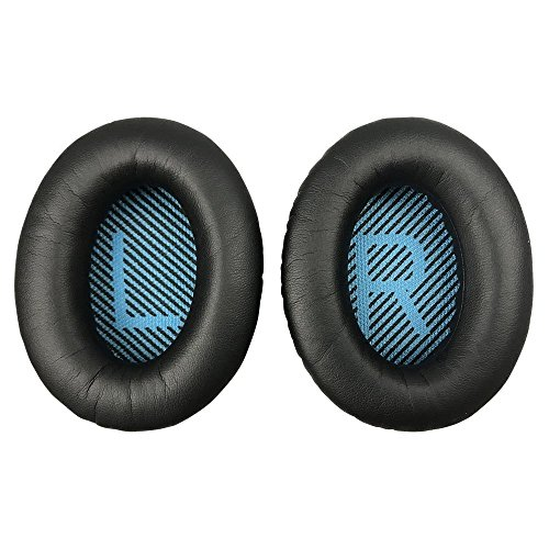 MMOBIEL Ear Pads Cushions Replacement for BOSE Quiet Comfort Headset QC2/QC15/QC25/QC35/Sound True/AE2/AE2i/AE2 wireless AE2-W With Memory Foam Protein Leather ()