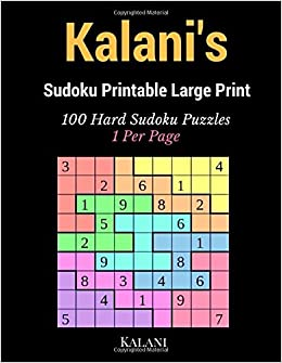 picture relating to Hard Sudoku Puzzles Printable called Kalanis Sudoku Printable High Print: 100 Tough Sudoku