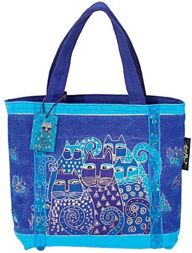 Laurel Burch Mini Tote (Laurel Burch Mini Bag, Indigo Cats)
