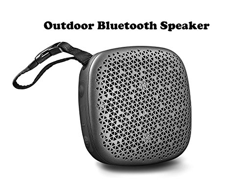 Portable outdoor Bluetooth Speaker / Shower Speaker with Enhanced Bass sound, Built-In Microphone and Micro TF SD Card slot ,Support MP3 play(Gray)
