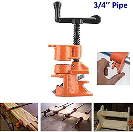 Ambility 1//2 3//4inch Pipe Clamp Wood Gluing Pipe Clamp Set Cast Iron Heavy Duty Woodworking Carpenter Tool