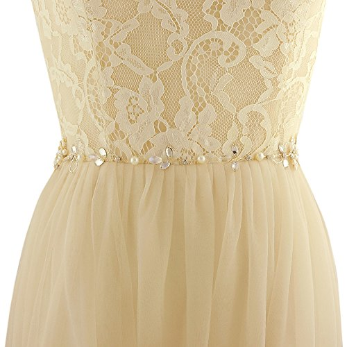 ULAPAN SH43 Dress Bridal Diamonds Off sash belt Pearls Sash White Belt Crsytals Wedding vBvwr