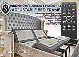 Split King Adjustable Bed Base Frame (Individual Head Tilt & Lumbar) USB Ports, Zero Gravity, Anti Snoring Interactive Dual Massage by Sven & Son King Split