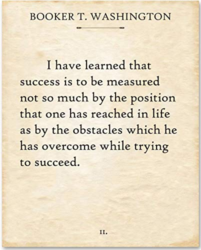 Booker T. Washington - I Have Learned. - 11x14 Unframed Typography Book Page Print - Makes a Great Gift Under $15 for Book Lovers