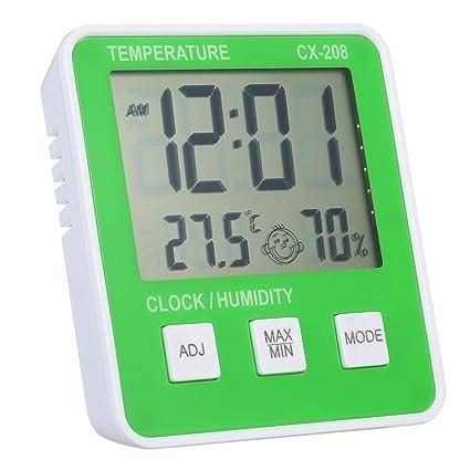 Termómetro Higrómetro Reloj con Humedad Emogi Despertador ...