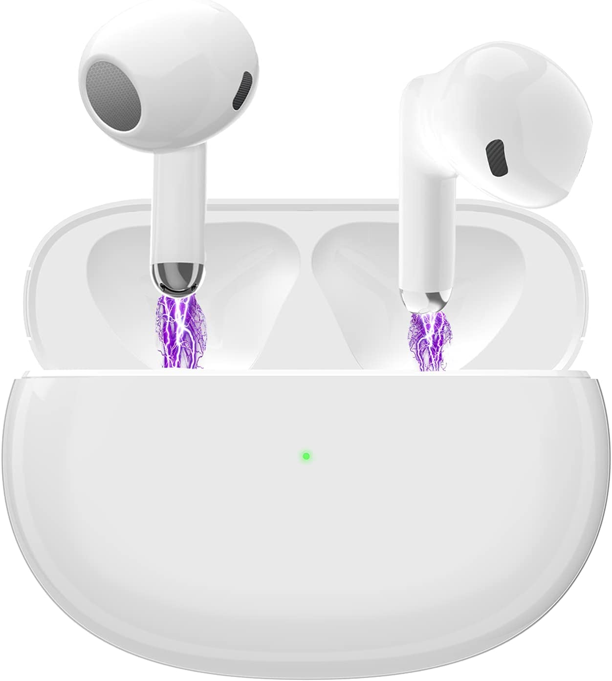Wireless Earbuds Bluetooth 5.0 Noise Cancelling 3D Stereo Headphones with Mini Charging Case Smart Touch Control Ear Buds Earpods Air Buds in-Ear Ear Buds for iPhone/iOS/Android