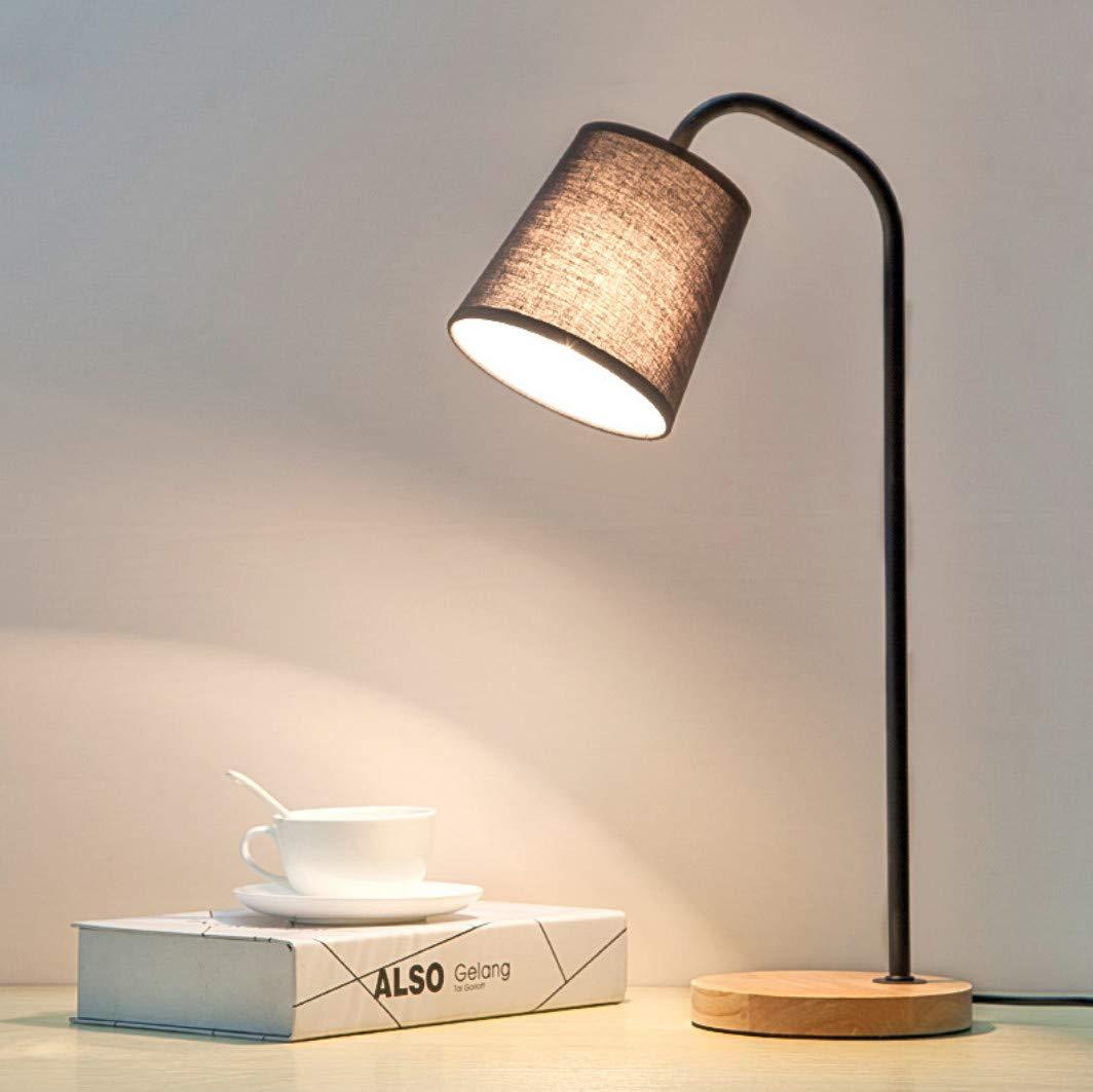 Nordic madera maciza LED ojo escritorio simple dormitorio cama ...