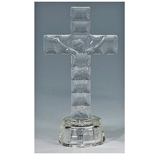 5-Inch Glass Religious Cross Favor with LED Lights