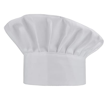 Amazon.com  WearHome Chef Hat Adjustable Elastic Baker Kitchen ... 1dfc87824eb