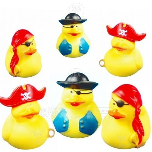 Pirate Rubber Duck bath toy or party bag filler by Playwrite by Toyday Traditional & Classic Toys