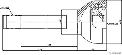 Herth+Buss Jakoparts J4975005 bieleta de barra estabilizadora