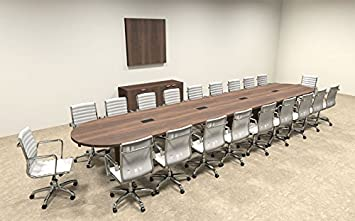 Amazoncom Modern Racetrack Feet Conference Table OFCONC - 20 foot conference table