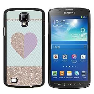 LECELL--Funda protectora / Cubierta / Piel For Samsung Galaxy S4 Active i9295 -- Patrón púrpura del ciruelo del oro Chevron --