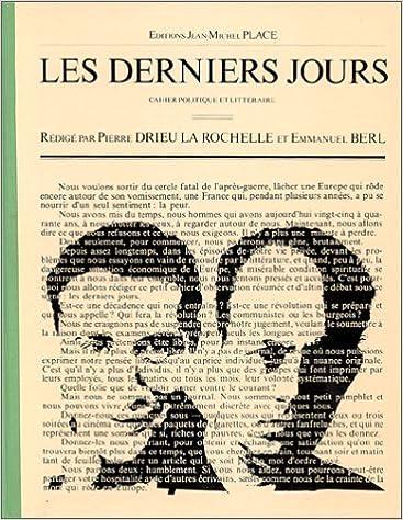 En ligne téléchargement Les Derniers jours, 7 cahiers politique et littéraire : 1er février - 8 juillet 1927 pdf