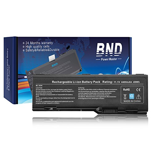 BND Laptop Battery for Dell Inspiron 6000 9200 9300 9400 E1705, fits P/N D5318 / U4873 / 310-6321 / 312-0340 / 312-0349 - 12 Months Warranty [6-Cell 4400mAh/49Wh] - 0349 Li Ion Battery