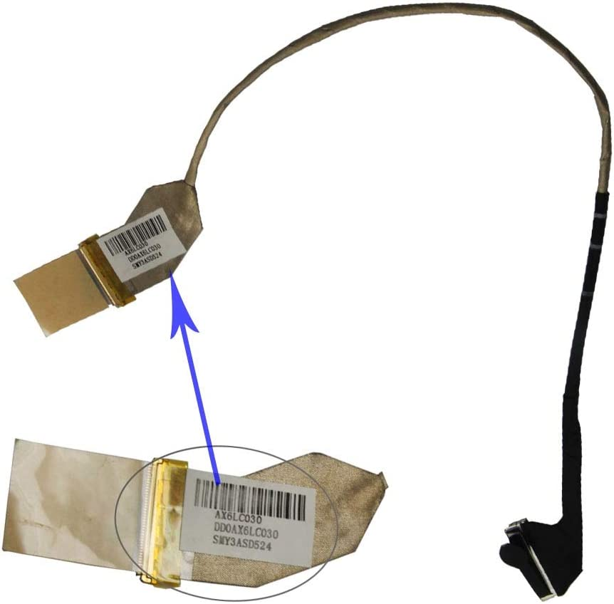 Computer Cables Yoton Laptop LCD Video Cable for HP Pavilion CQ62 G62 G56 CQ56 G62T G62-100 15.6 DD0AX6LC003 Cable Length: Other