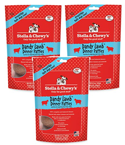 Stella & Chewy's Freeze Dried Dandy Lamb Dog Food, 5.5 ounce (3 Pack)