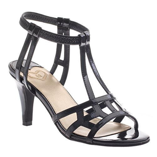 UPC 753332588844, Madeline Women's Merle Ankle Strap Sandal,Black Patent,US 9.5 M