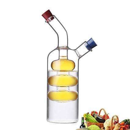 MAI&BAO Aceite y Vinagre dispensador de Botella Botella de Aceite de Oliva de Vidrio a Prueba