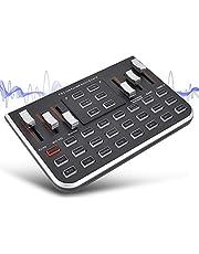 Zopsc Tarjeta de Sonido en Vivo Portátil Teléfono Móvil Transmisión en Vivo Karaoke Cambiador de Voz Cable de Acompañamiento con 4 Sonidos Diferentes.
